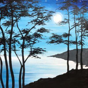Moonlight on Cedars