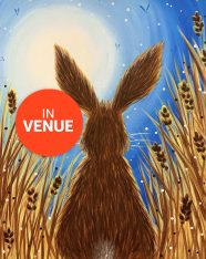 paint a hare with Brush Party Paint and Sip