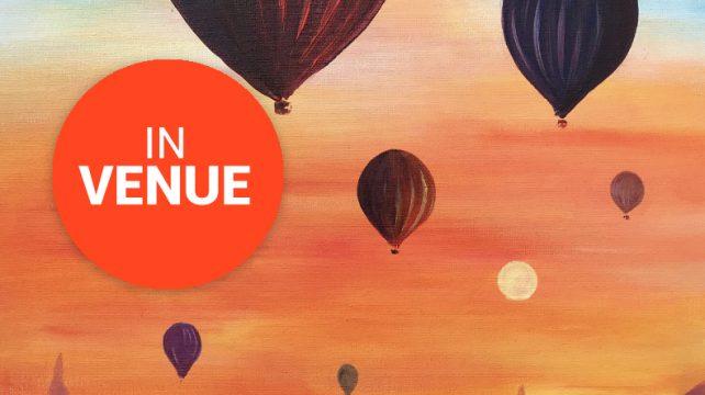 Myanmar Magic Balloons in mystic sky